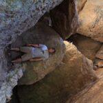 Josh at Balconies Cave exit