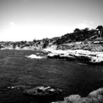La Jolla coast black and white