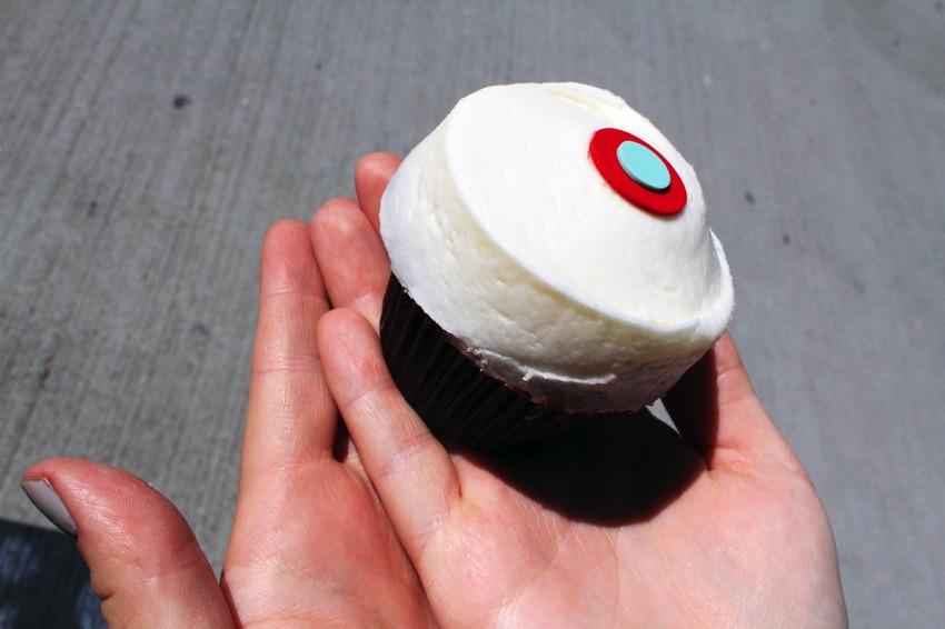 Amies red velvet cupcake