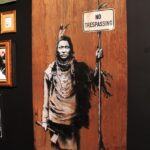 Banksy Indian No trespassing
