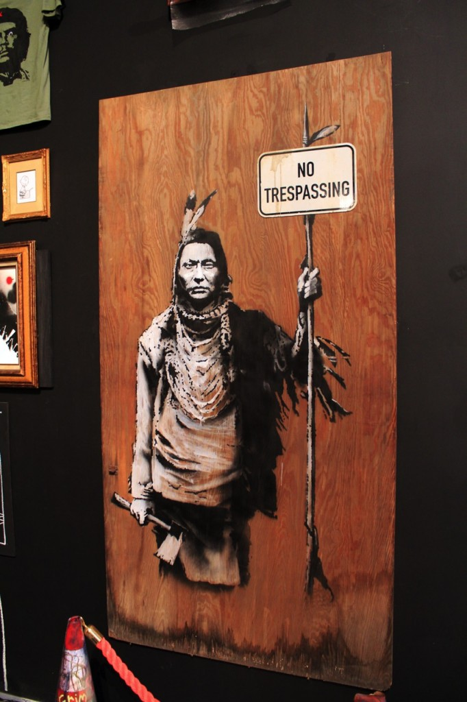 Banksy Indian No tresspassing 682x1024