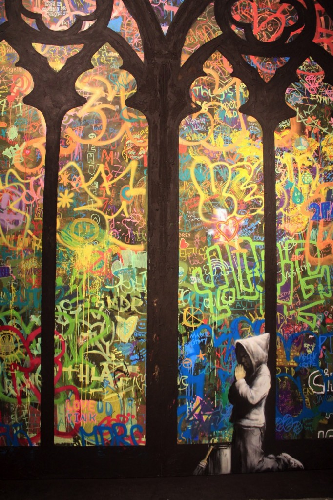 Banksy Praying Church Mural