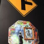 Banksy Street Signs Painted 150x150