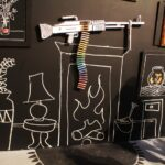 Banksy fireplace and gun