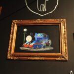Banksy tagging thomas the train 150x150