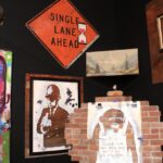 Bansky single lane ahead