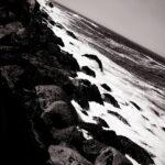 Black and White Morro Bay State Park Coast