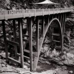 Bridge to nowhere black and white