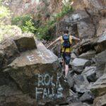 Climbing Rocks to Sapphire Falls