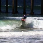 Getting air while surfing