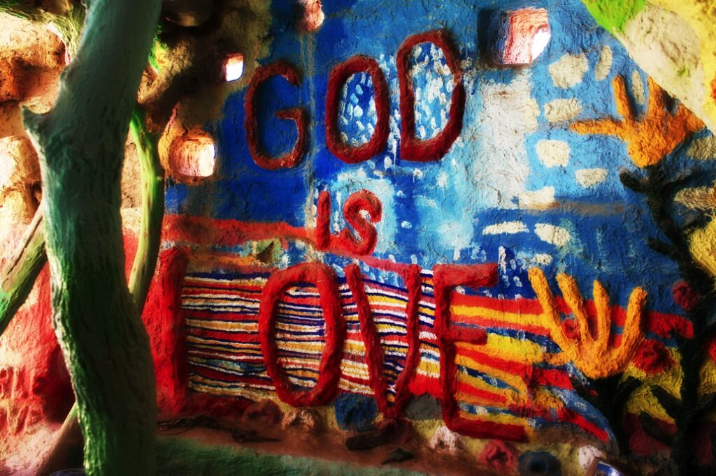 God is love salvation mountain