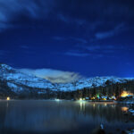 Lake Donner near Lake tahoe city at night