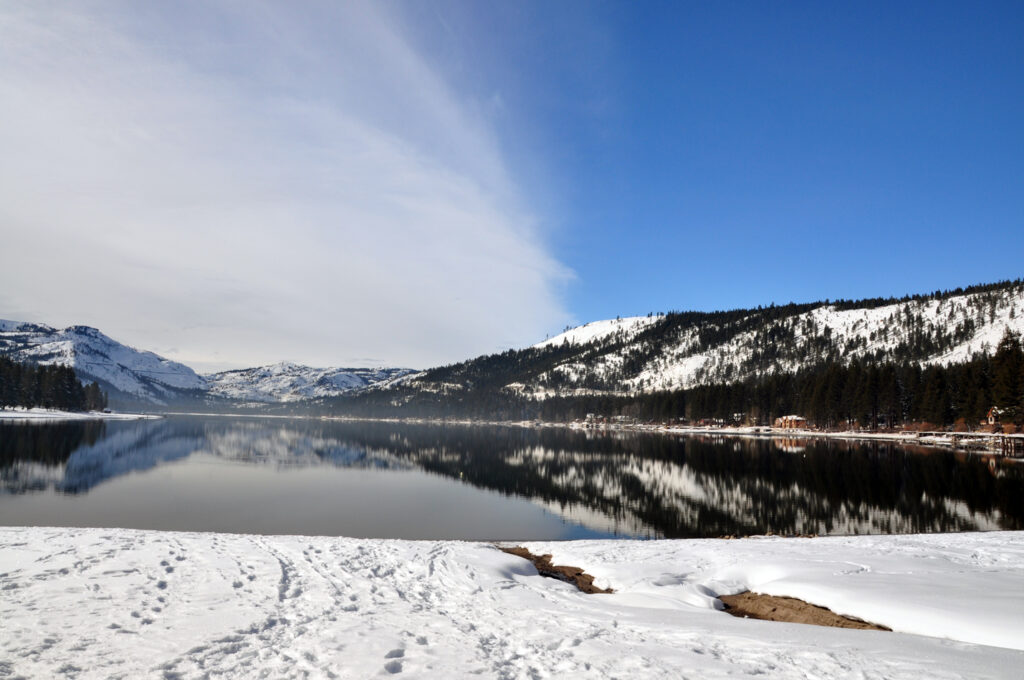 Donner Lake in the winter