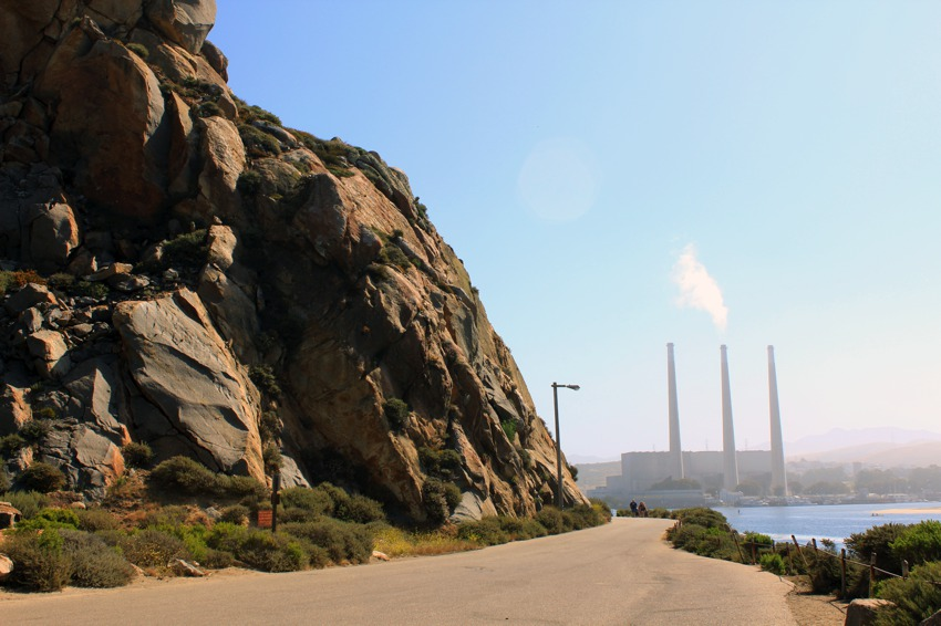 Morro Bay Rock and Power Plant