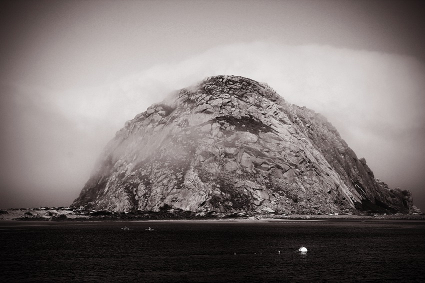 Morro Rock Black and White