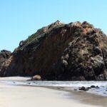 Rock at pfieffer state beach