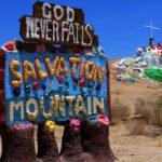 Salvation mountain and sign