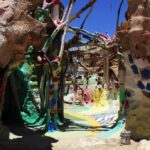 Salvation mountain inside