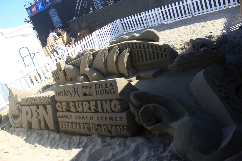 Sand Castle for US Open