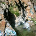 Sapphire falls from afar
