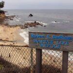 Sign for little corona del mar beach