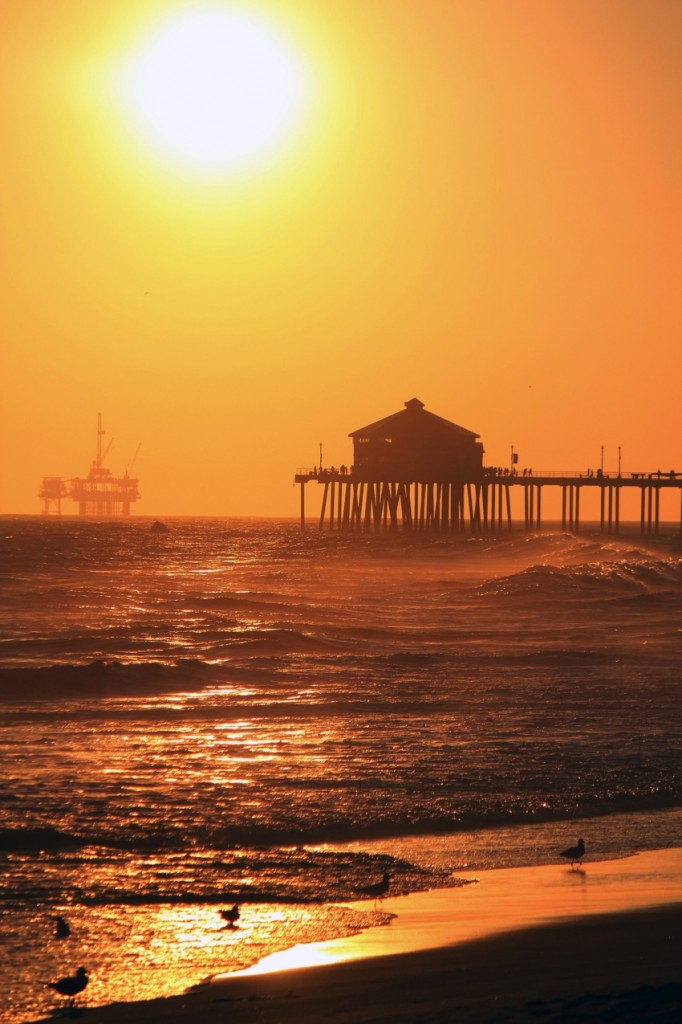 Sunset Huntington Peir