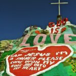 Vintage Salvation mountain picture