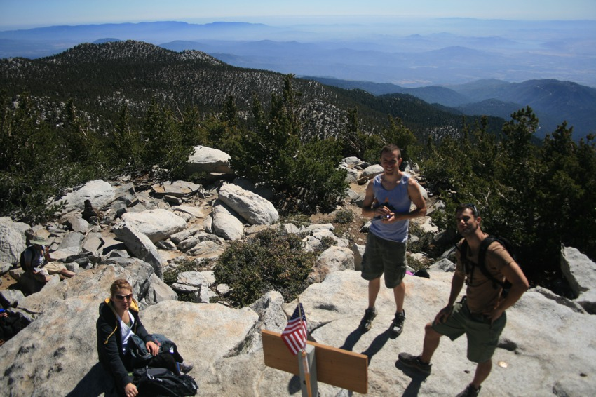 crew at the san jacinto summit
