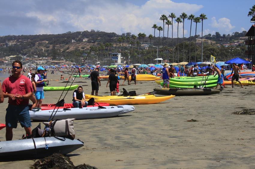 La Jolla Coastline Kayaks On The Beach