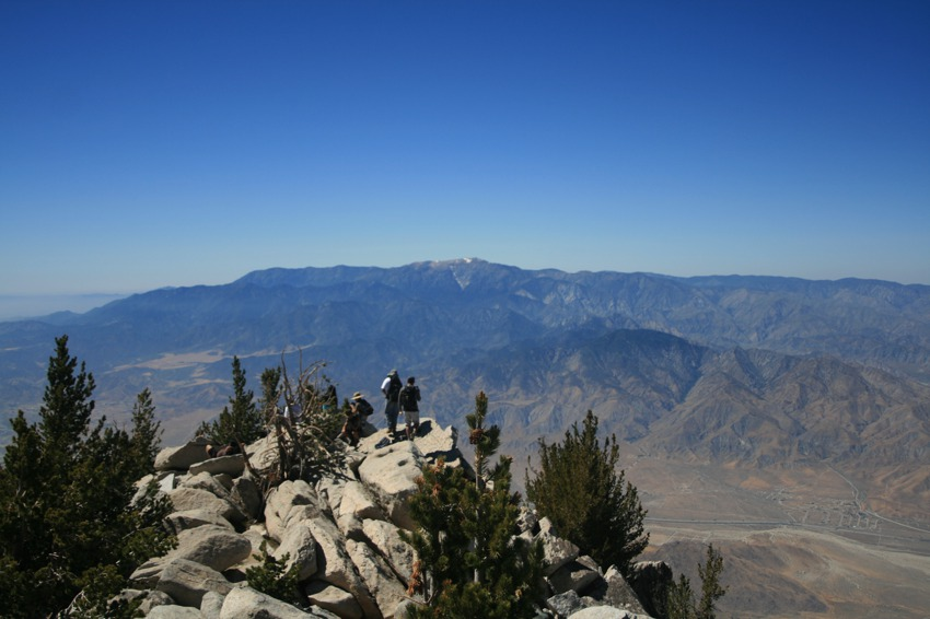 view from the summit of san jacinto