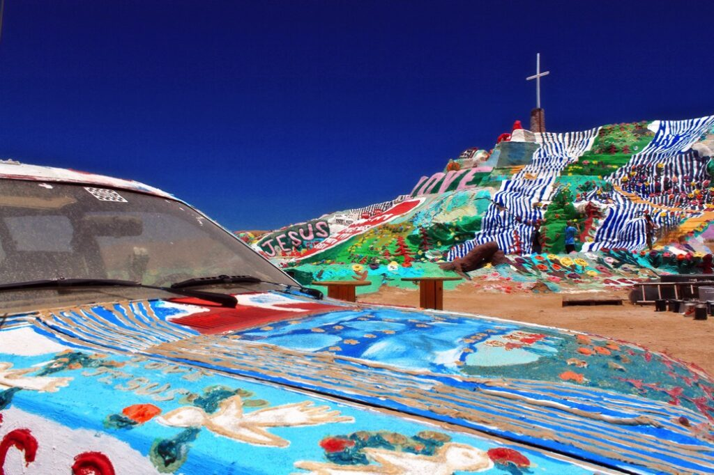 view of salvation mountain