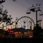 la fair ferris wheel sunset