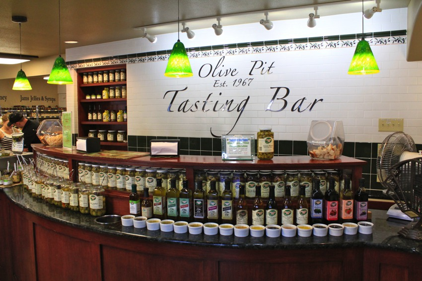 The Olive Pit in Corning (Green Olives, Nuts and Olive Oil)