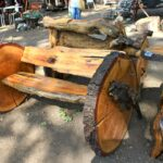 Bench made from tree stump 150x150