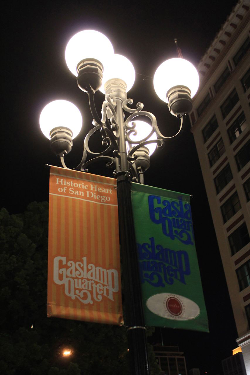 Gaslamp District in San Diego at Night | California ...