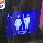 Lucha Libre Restroom Sign