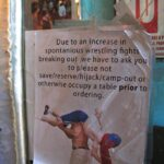 Lucha Libre no table saving sign