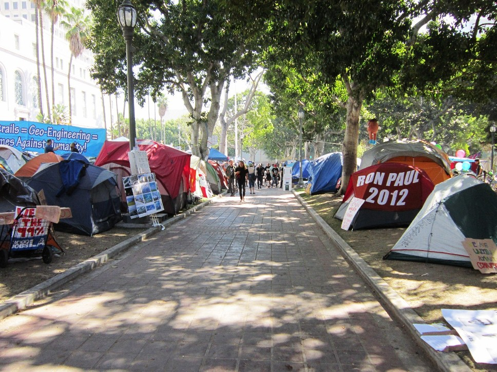 Occupy LA in Downtown Los Angeles