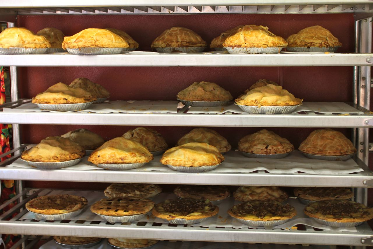 Pies at Oak Glen bakery
