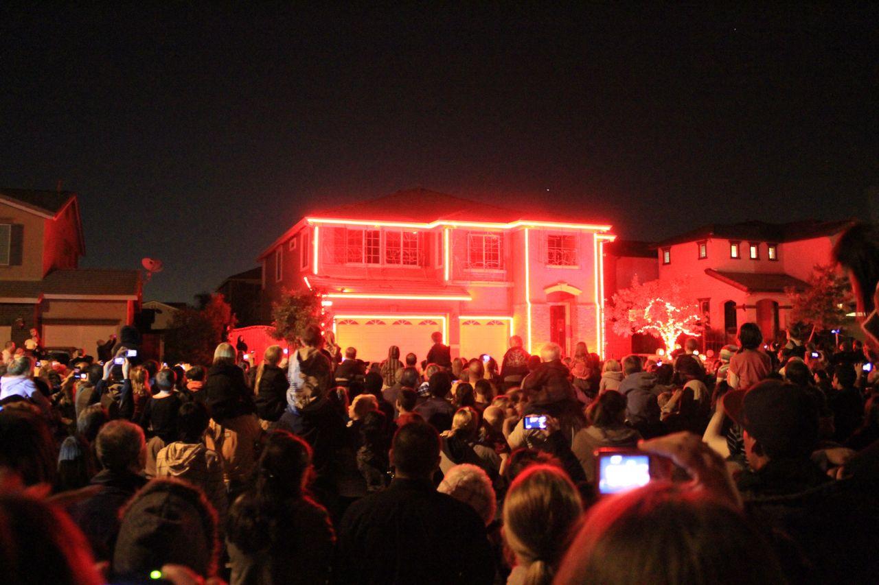 Start of the Halloween Light show