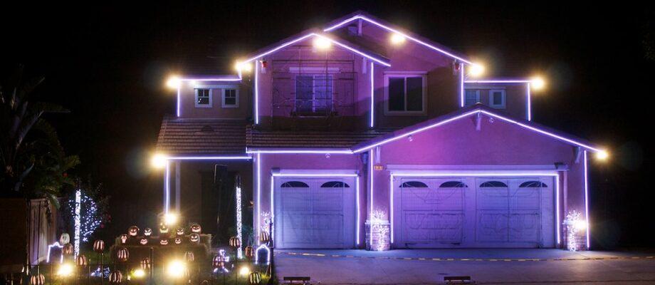 Halloween Light Show House in Riverside, CA
