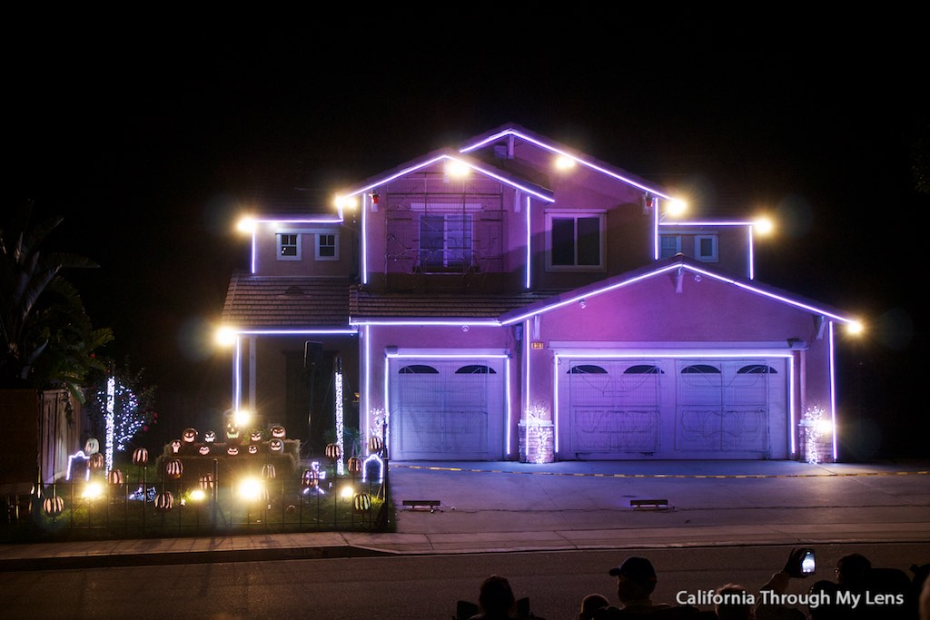 halloween light show house in riverside ca california through my lens - Halloween Lights Thriller