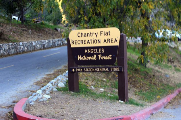 Chantry Flat Recreation Area - the starting point of the run