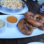 Pretzels with beer mac and cheese 150x150