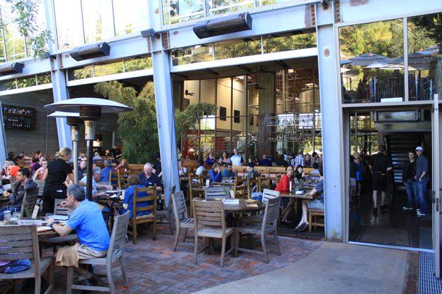 Stone brewery patio