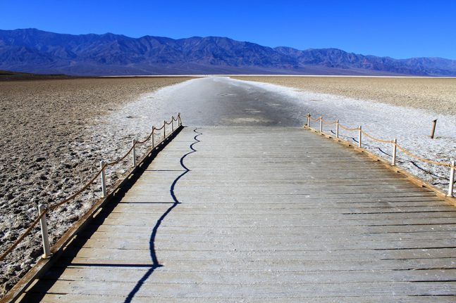 badwater basin in death valley lowest point the usa california