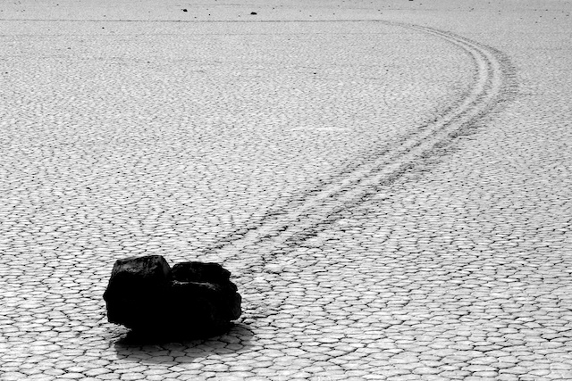 Death Valley Racetrack black and white