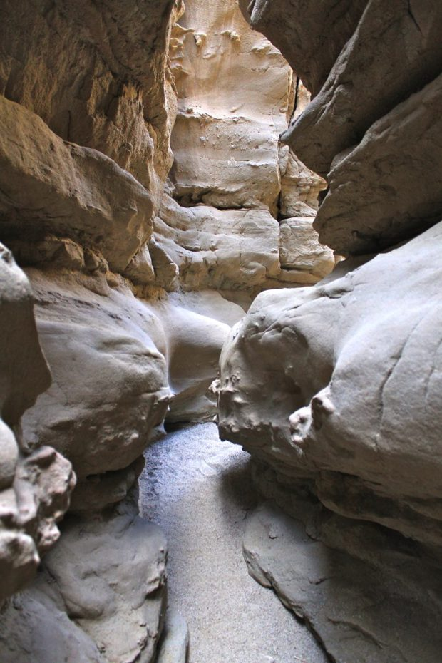 Slot Canyon In Anza Borrego State Park California