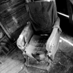 Old Chair black and white