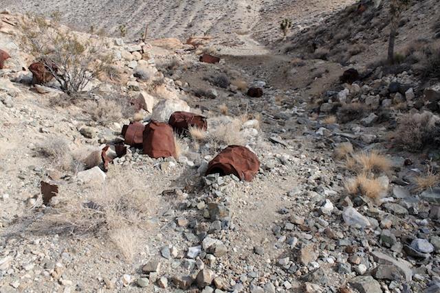 Old barrles near an abandoned mine